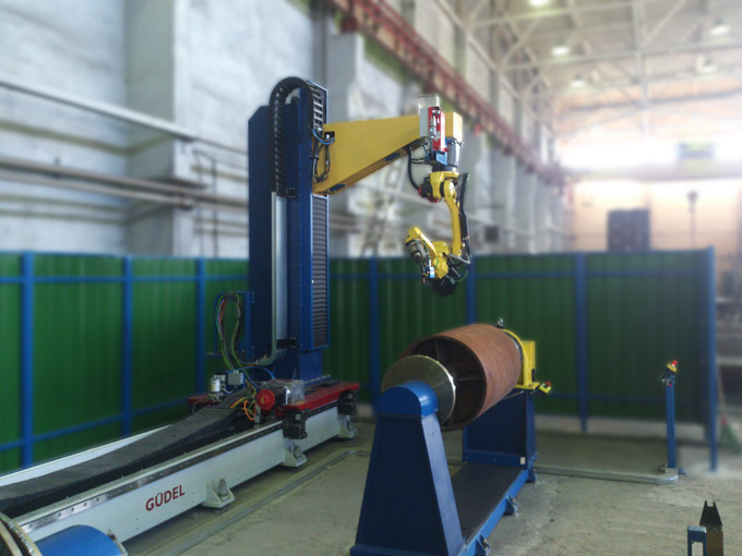 Universal Robot Cell for Welding of Industrial Roller Bearings