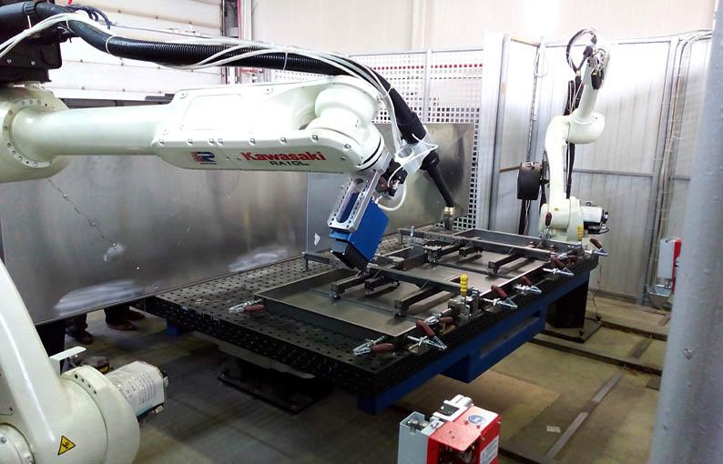 Robotic welding solution of metal doors & Robot Cell for Welding of Metal Doors | Nordica Sterling